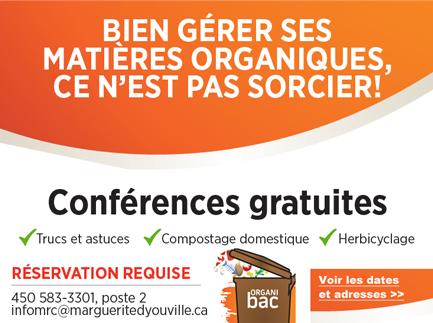 Conférences sur les matières organiques 2019